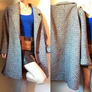 SOLD Pink & Grey Vintage Tweed Coat